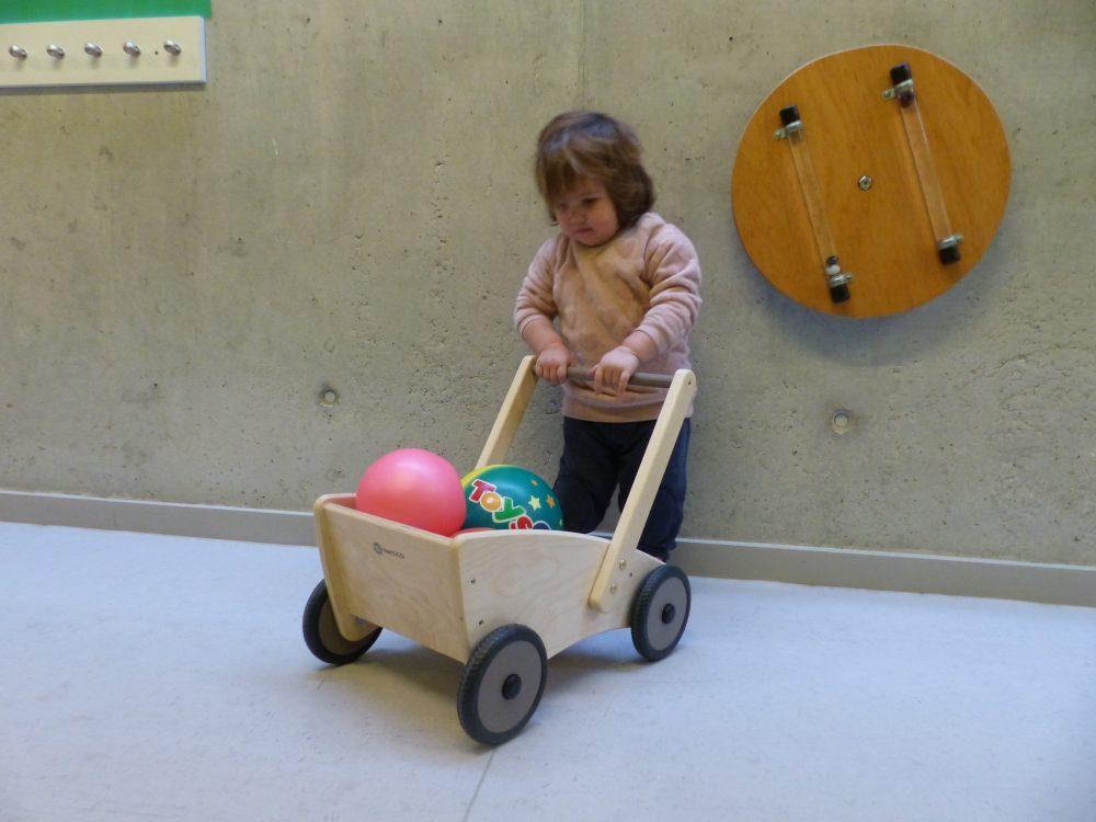 L'Adara juga amb un carretó