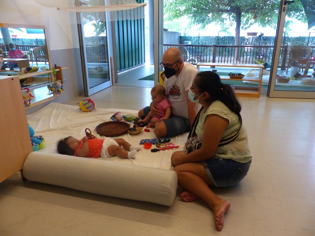 L'Ivan a l'estança amb les famílies